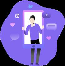 В Youple есть собственная социальная сеть